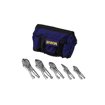 Vise Grip VG2077704 - Juego de 5 alicates de presión en una bolsa de herramientas de
