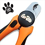 Pet Nail Clippers by GoPet with Quick Guard for Dogs & Cats