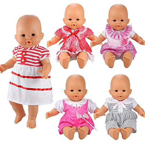 - BARWA Handmade 5 Pcs Dresses Clothing Lovely Clothes Costume for 14 to 16 Inch Doll and 18 Inch Doll
