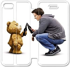 caso del tirón del cuero Ted A2B52Z8 iPhone 5C funda L9P22M2 caso fundas de cuero telefónica personalizada