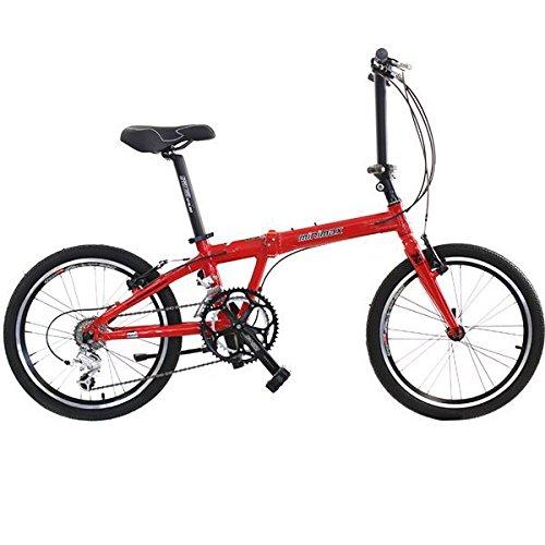 HASA 折り畳み式自転車シマノ18スピード20インチ折りたたみ  赤 B005NL1BMM