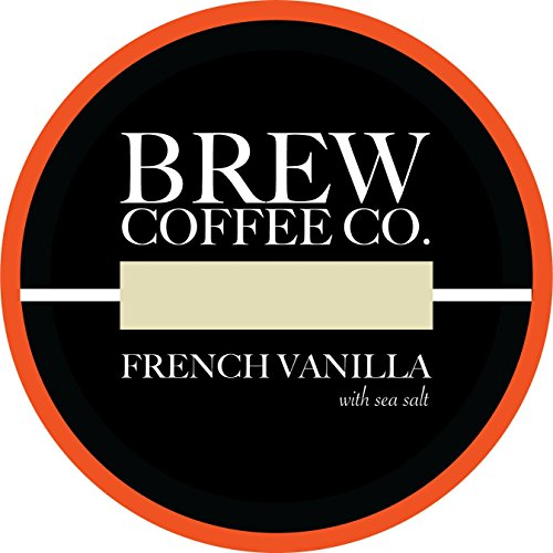 (Brew Coffee Co - Keurig K-Cups for Single Serving Coffee Cups - French Vanilla Sea Salt)