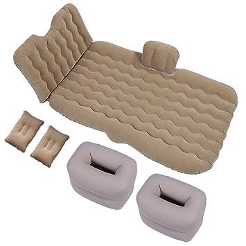 b8a9694ea [ZHANGYANA] coche coche cama inflable colchón del coche coche SUV fila  trasera asiento trasero del coche cojín para dormir cojín de aire  auto-conducción ...