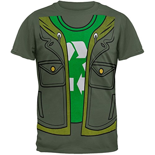 Big Bang Theory - Leonard Costume T-Shirt - X-Large Light Green