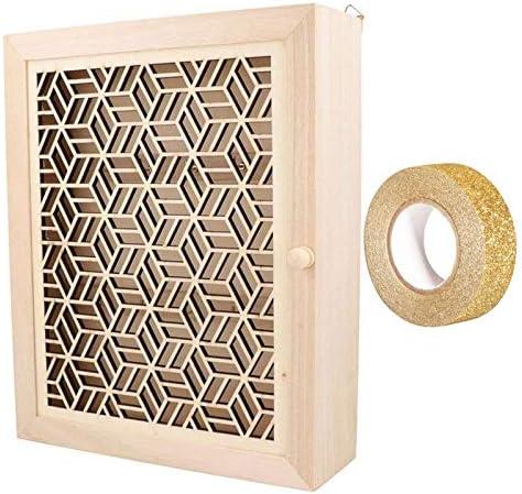 Caja de Llaves de Pared para Personalizar 25 x 20 cm + Masking Tape Dorado con Brillo 5 m: Amazon.es: Hogar