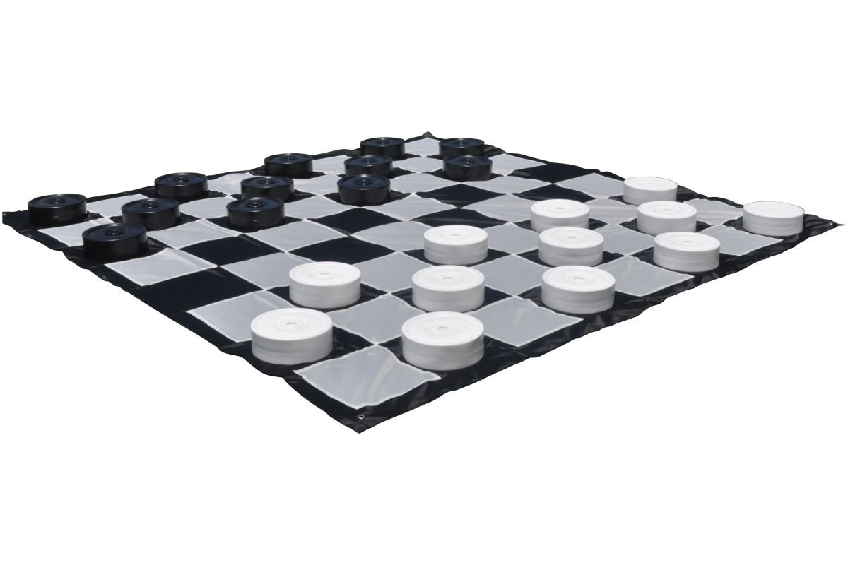 Giant Outdoor Checkers Set With Mat by CUSTOM
