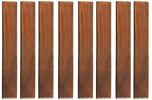 Bare Decor BARE-WF2012 EZ Loop Ends Side Trim Piece Interlocking Flooring in Solid Teak Wood, 8 Pin, Brown