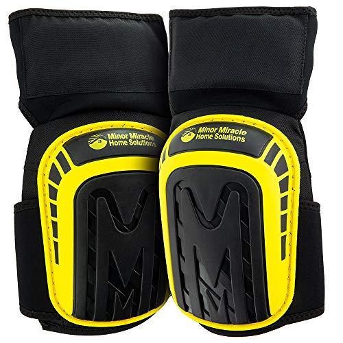 Premium Knee Pads For Work (Ultimate Anti-Slip Technology) Protective Kneeling Gear, Non-Slip Gel Cushion Knee pad, Gardening Kneepads, Construction Kneepad That Stay In Place And Don't Slip Down