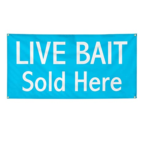 LIVE BAIT Blue Fade Full Color Banner Sign