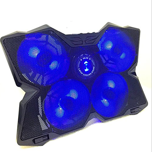Marvo FN-30 15 - 17 inch Game Series Laptop powerful Cooling Pad with four 120mm Fans Blue Color with Double USB Port
