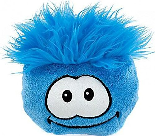 Disney Club Penguin 6 Inch Deluxe Plush Puffle Blue Includes Coin with Code! ()