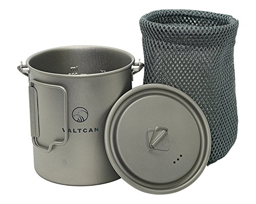 Valtcan 750ml Titanium Pot Backpacking Camping Open Fire Mug Cup with Lid and Stuff Sack Review