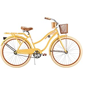Huffy Nel Lusso Women's Cruiser Bike 26 Banana-Yellow