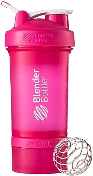 Blender Bottle ProStak Full Colour Shaker Bottle, Pink, 650 ml Capacity