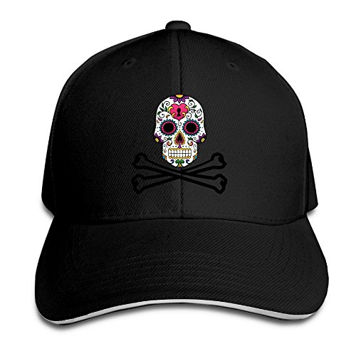 Creative Pirate Colorful Sugar Skull Fashion Design Unisex Cotton Sandwich Peaked Cap Adjustable Baseball Caps Hats