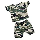 MonkeyJack Camo Short Sleeve T-shirt & Pants Set Outfit Clothes for 18'' American Girl Doll or 17'' Zapf Baby Born Dolls