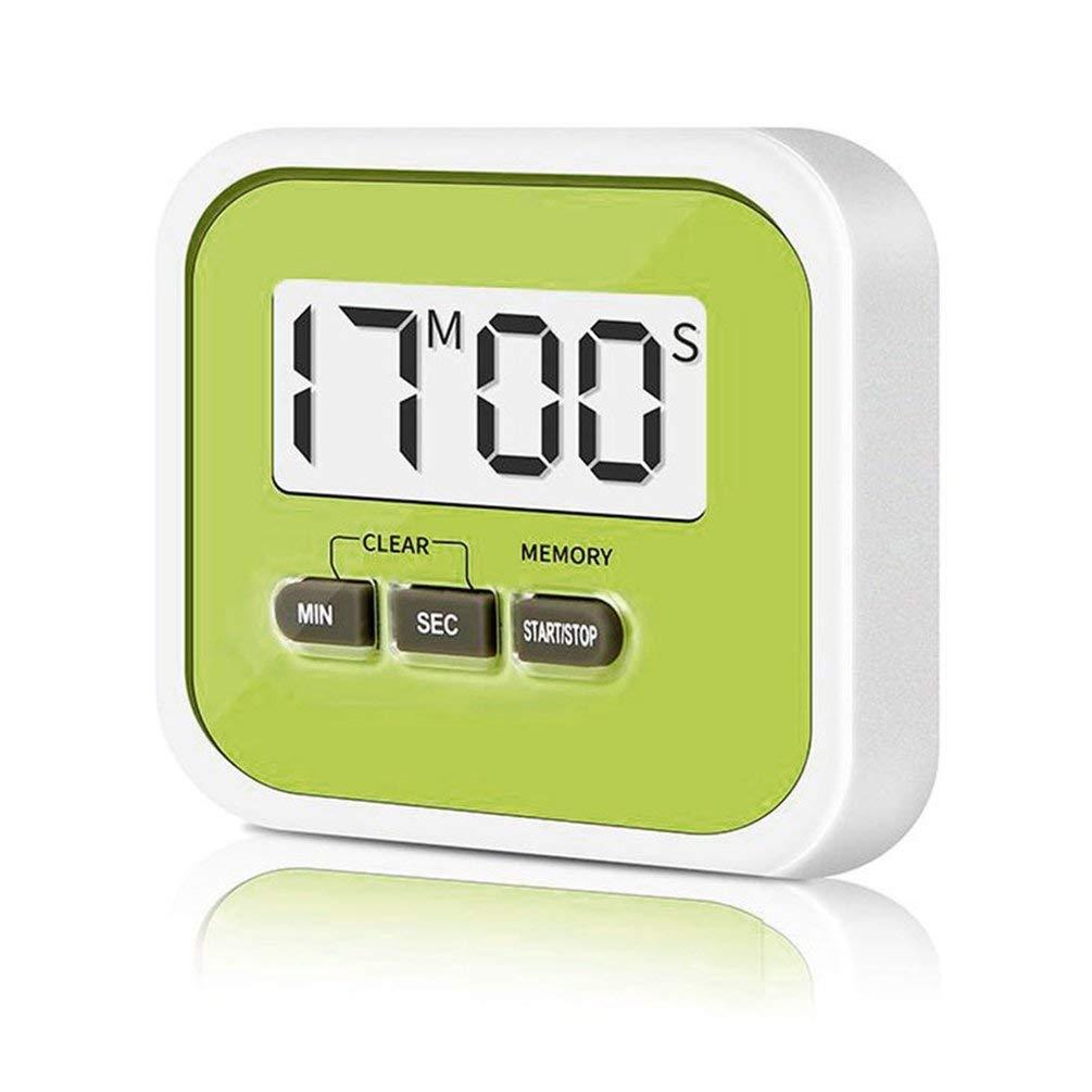 TAOHOU LCD Kitchen Timer Electronic Kitchen Timer Cron/ómetro Herramientas de Cocina Amarillo