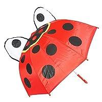 Kiddi Choice 3D PopUp Ladybug Cute Umbrella, Red
