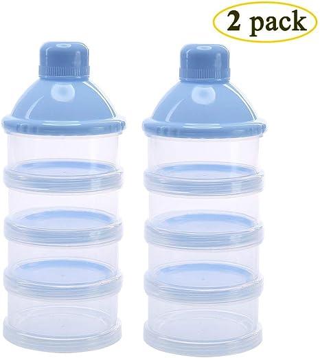 4 Layers Storage Dispenser Box Powder Formula Milk Portable Baby Container