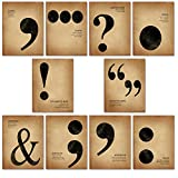 Popular Punctuation, Writing and Grammar Poster Set for Home, Office, Classroom, or Library.