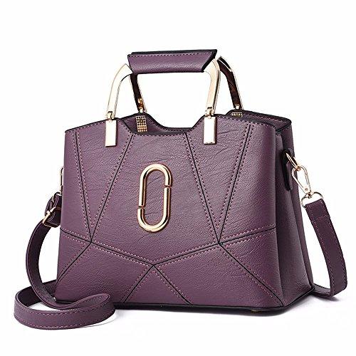 Los púrpura de Hombro CCZUIML señoras de Las Negro Bolsas Bolsos inclinadas Forman Bag Bolsos Ocasionales HRqR5xtw6