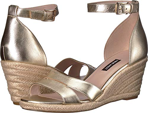 Nine West Women's Jabrina Espadrille Wedge Sandal Light Gold 7.5 M US