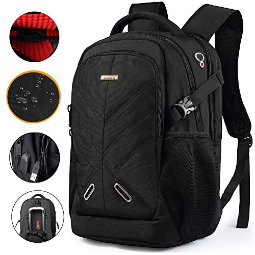 (SHENGTS Travel Laptop Backpack,Business Anti Theft Durable Laptops Backpack with USB Charging Port,Water Resistant College School Computer Bag for Women & Men Fits 18.4 Inch Laptop and Notebook)