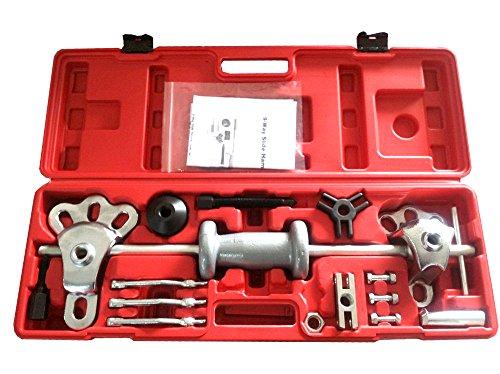 17pc Axle Wheel Puller 5lb Slide Hammer Internal External Puller Hub - Rear Axle Cup Bearing