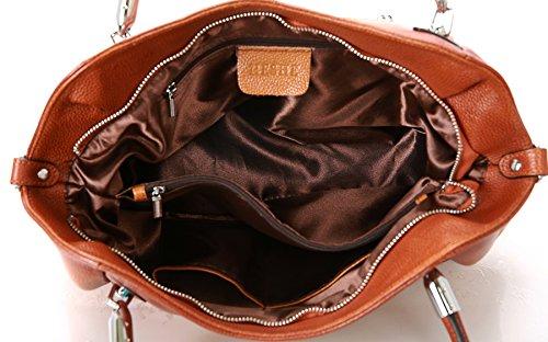 a7f21ee33099 Heshe Womens Leather Handbags Tote Bag Top Handle Bag Hobo Shoulder Handbag  Designer Ladies Purse Cross ...