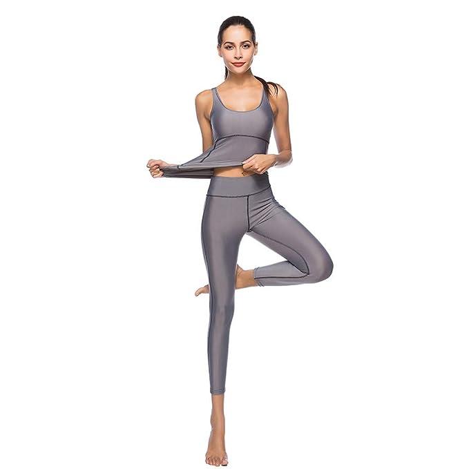 Amazon.com: Conjunto de yoga para mujer, ropa deportiva ...