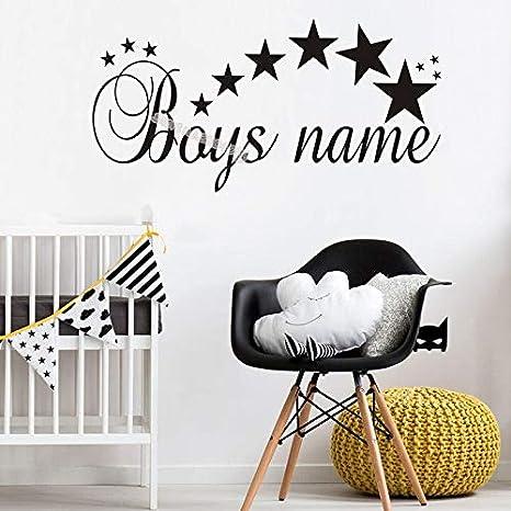 60x30cm Personalized Custom Name Wall Sticker Customized Stars ...