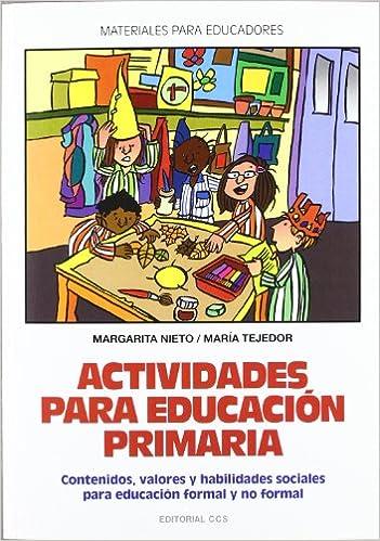 Actividades para educacion primaria: Contenidos, valores y ...