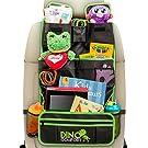 Extra Large Backseat Organizer | + BONUS KICK MAT | Fits iPad | Detachable Pocket | Baby Toys Storage and Car Backseat Organizer for Kids | Lifetime Money Back Guarantee