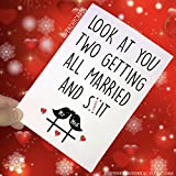 Funny Wedding Cards, Funny Engagement Cards, Congratulations Cards Marriage Cards, Best Friend Daughter, Son, Getting Married And Sh*t PC225