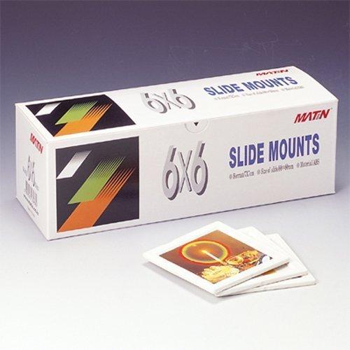 Matin ABS Plastic Slide Mounts Tray 6x6 - 50pcs ()