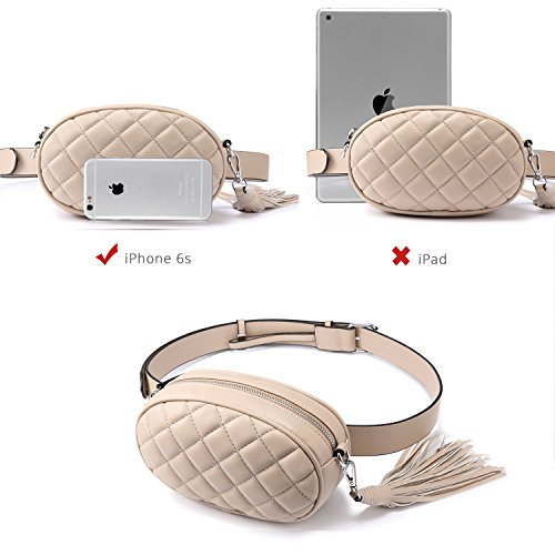 Stylish Beige Pack Bag Cell Phone Bum Fanny Bag Travel Waist LOVEVOOK 1IUTpqx
