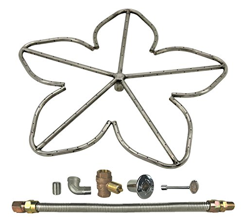 Spotix HPC Penta Fire Pit Burner Kit (FPS-PENTA24KIT-NG-MSCB), 24-Inch Burner, Match Light, Natural Gas