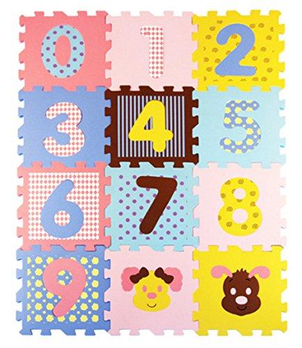 kingball Kids Baby Numbers Puzzles Playmat Foam Mats Set ...