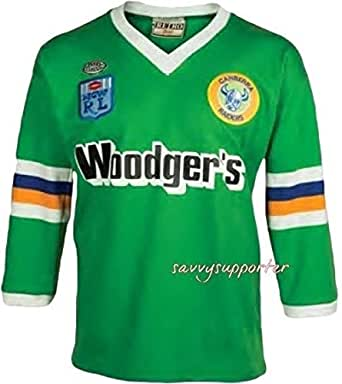 Classic Sportswear Canberra Raiders NRL 1989 Retro Heritage Woodgers Jersey   2XL