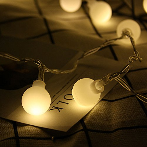 Nufelans_String Light 2.5M 20LED Fairy Lamp for Window Curtain Lights String Lamp Decorative Lights for Party Outdoor (Warm White) by Nufelans_String Light (Image #2)