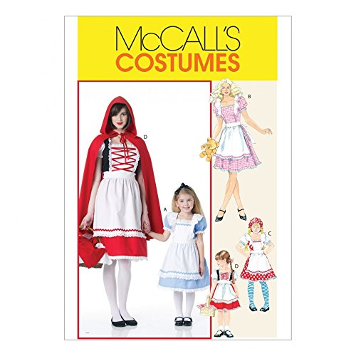 McCalls Girls Sewing Pattern 6187 Red Riding Hood & Storybook (Riding Hood Costume Pattern)