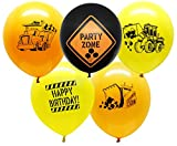 Construction Party Supplies - 25 Construction Themed Balloons - 12'' Construction Zone Party Balloons - Perfect for Builder Themed Parties!