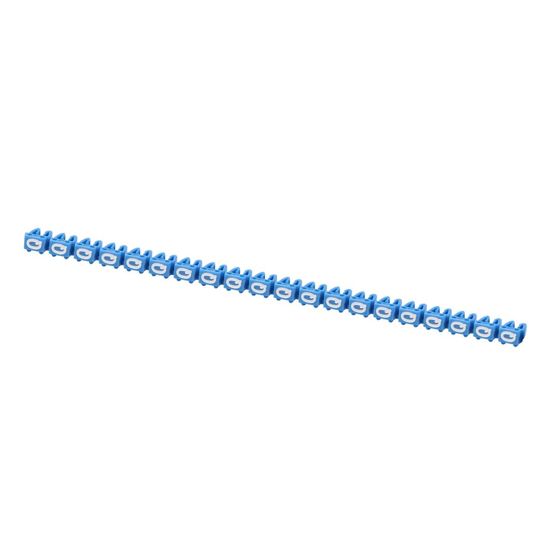 sourcing map 20Pcs Etiquetas DE 3.0-4.0mm de di/ámetro de Cable Letras L Cable de Red Azul para marcadores