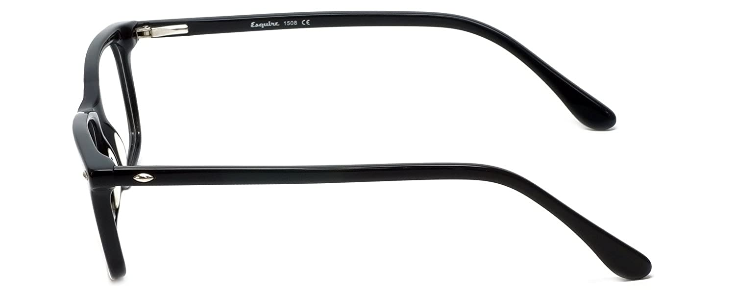8cea507242 Amazon.com  Esquire Designer Reading Glasses EQ1508 in Black 51mm with Case  +0.25  Clothing