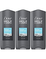 Dove Men + Care Body & Face Wash, Clean Comfort 13.50 Oz ( Pack Of 3), 2.16 Lb