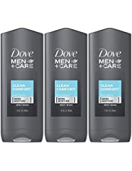 Dove Men + Care Body & Face Wash, Clean Comfort 13.50 oz ( Pack of 3)