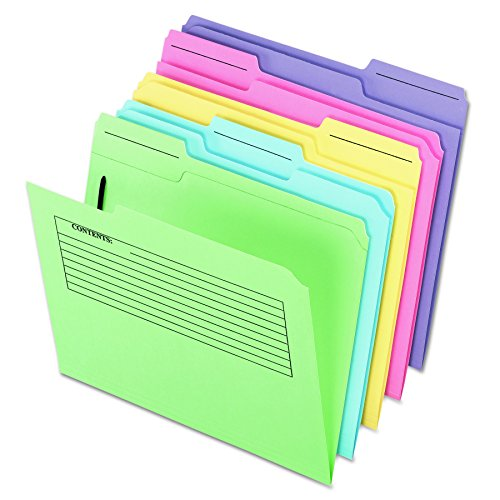 - Pendaflex 45270 Printed Notes Folders with Fastener, 1/3 Cut Top Tab, Letter, Assorted (Pack of 30)
