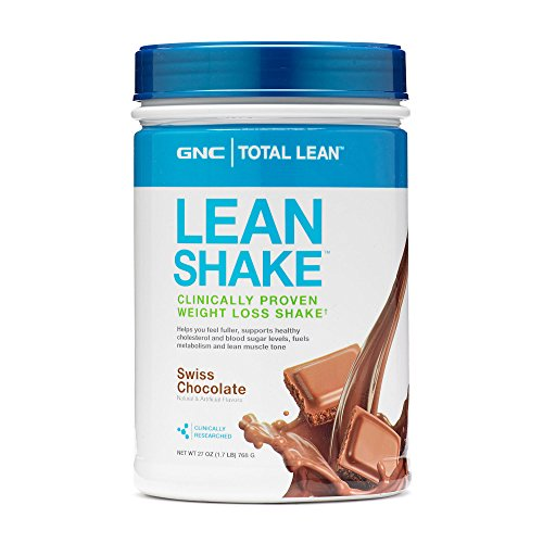 GNC Total Lean Shake - Meal Replacement, Lean Muscle Tone, Healthy Metabolism - Swiss Chocolate, 1.7 Pound