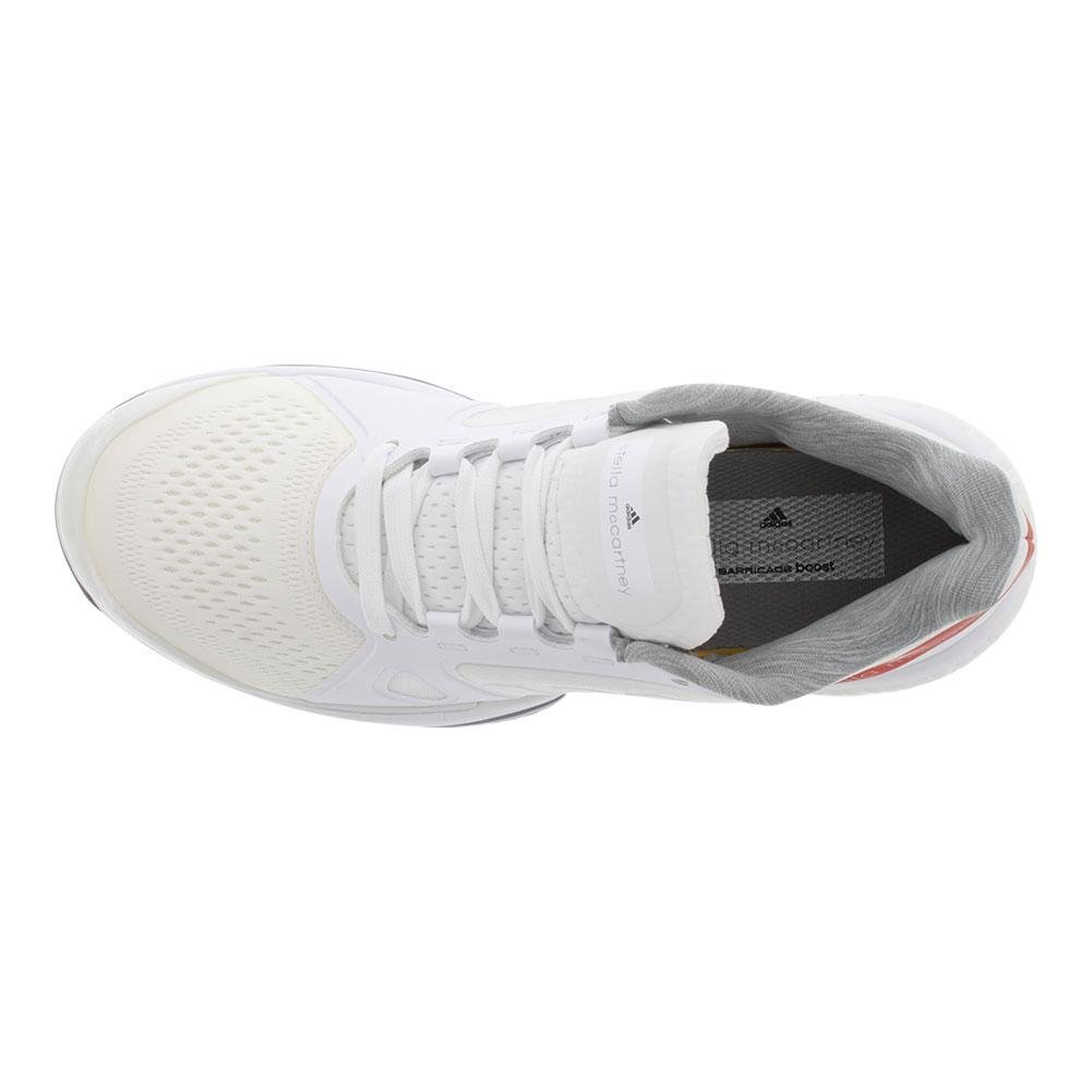 adidas Performance Women's ASMC Barricade Boost Tennis Shoe B073PDMK7Q 10 B(M) US|White/Dark Callistos/Pearl Grey