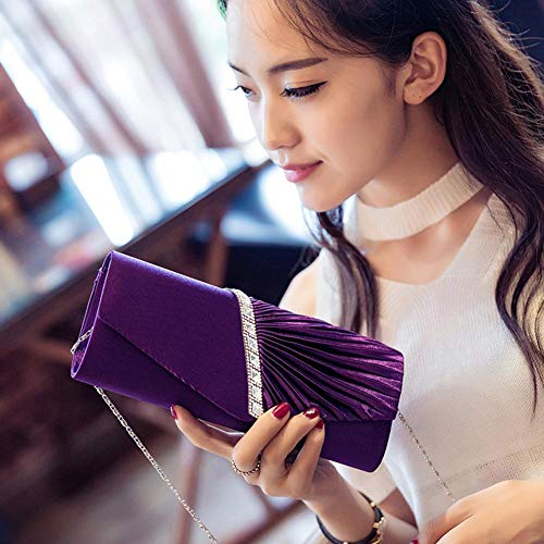 Shoulder Bag Bag Rhinestone Envelope Crossbody Women's Bag Purple Wedding Bridal Clutch iShine Mini Evening n8Pxf